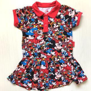 Disney - 美品ミッキーディズニー子どもキッズ ポロシャツワンピース ミニー 半袖