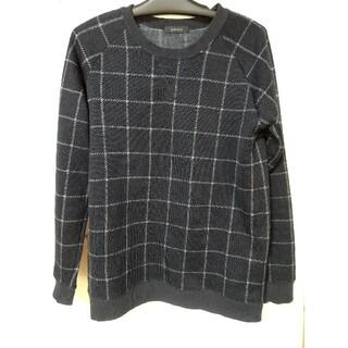 レイジブルー(RAGEBLUE)のRAGEBLUE チェック柄 ニット Lサイズ 濃紺色 レイジブルー セーター(ニット/セーター)