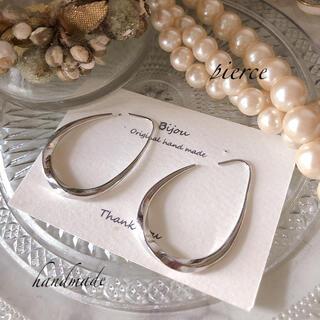 ZARA - *新商品* silver loop pierce