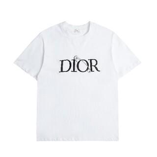 Dior - 2枚8000円送料込みDIOR ディオール Tシャツ ロゴ 半袖 シンプル 黒白