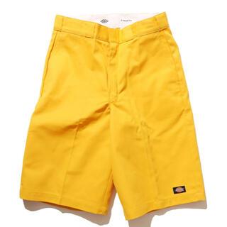 ディッキーズ(Dickies)の美品 ディッキーズ ハーフパンツ 黄色 オレンジ フリークスストア 古着(ショートパンツ)