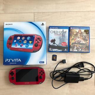 PlayStation Vita - PlayStation Vita+充電コード+カセット3種