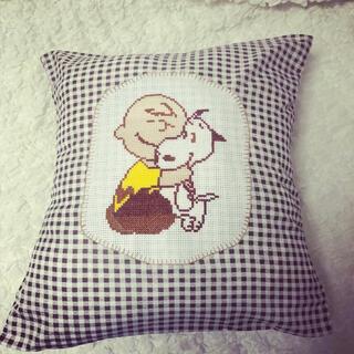 SNOOPY - スヌーピー♡SNOOPY♡チャーリーブラウン♡クッションカバー♡刺繍♡
