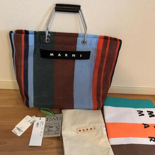 Marni - MARNI  マルニ フラワーカフェ ストライプバッグ ラッカーレッド