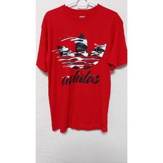 adidas - アディダス adidas Tシャツ レッド 赤 サイズ M