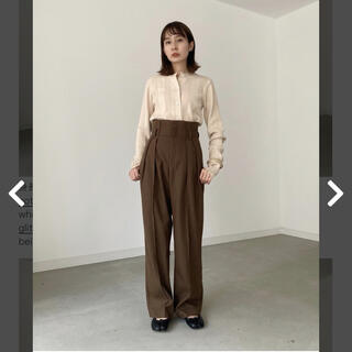 【louren 】highwaist tack pants