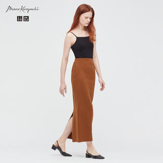 UNIQLO - マメクロゴウチ✖️ユニクロ エアリズムコットンスリットスカート Mサイズ