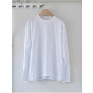 コモリ(COMOLI)のcomoli 空紡天竺 長袖クルー – White サイズ2 未使用タグ付き新品(Tシャツ/カットソー(七分/長袖))