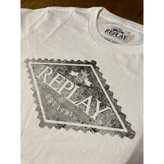 Replay - REPLAY  L  オーガニックコットン プリント Tシャツ リプレイ