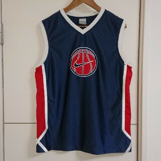NIKE - NIKE ナイキ タンクトップ 刺繍ロゴ 古着 バスケットボール