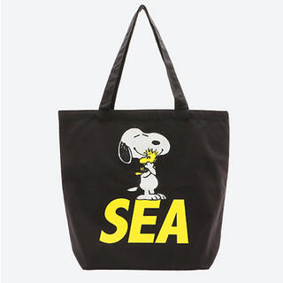 SNOOPY - WIND AND SEA スヌーピー コラボトートバッグ 黒
