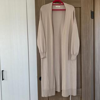 chocol raffine robe - ロングカーディガン ベージュ フリーサイズ
