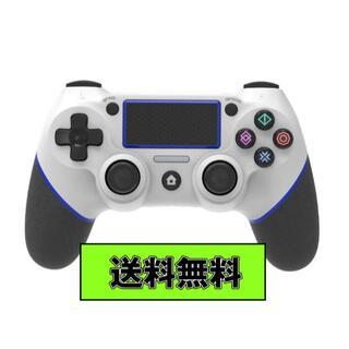 PS4 ワイヤレスコントローラー ホワイト&ブルー USB付 互換品(その他)