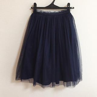 メリージェニー(merry jenny)のmerry jenny♡ネイビーチュールスカート(ひざ丈スカート)