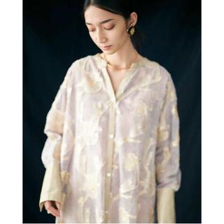 mame - EBONY 【21SS】Iris Cut jacquard Long shirt