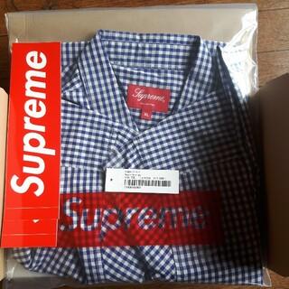 Supreme - Supreme gingham s/s shirt XL NAVY 美品