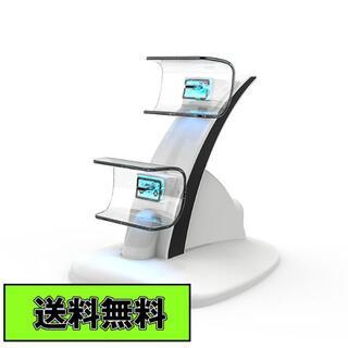 PS5 コントローラー充電器 ダブル充電 2台同時充電 ホワイト互換品(その他)