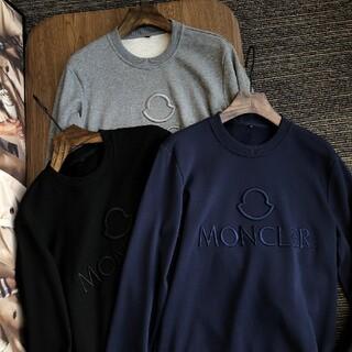 MONCLER - 2枚1000円引 MONCLER ロゴ付き スウェットブラック/グレー/ネイビー