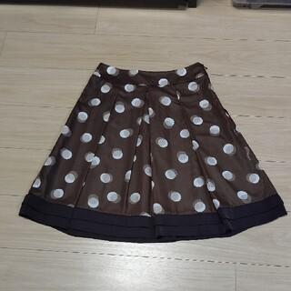 リフレクト(ReFLEcT)のReflectブラウン水玉スカート(ひざ丈スカート)