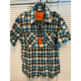 リーバイス(Levi's)のLevi's RED TAB メンズ 半袖 チェックシャツ ブルー(シャツ)