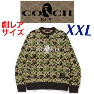 A BATHING APE - 激レア【XXL】COACH x BAPE CREWNECK SWEATSHIRT