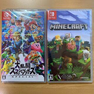 Nintendo Switch - 新品未開封 大乱闘スマッシュブラザーズ マインクラフト 2本セット Switch
