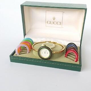 グッチ(Gucci)の⭐綺麗 グッチ チェンジ12色 シェリー 美風防 レディース腕時計 着物 極美品(腕時計)