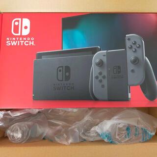 ニンテンドースイッチ(Nintendo Switch)の任天堂 Switch 本体 新品未開封 グレー スイッチ本体(携帯用ゲーム機本体)