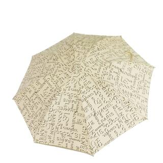 CHANEL - シャネル アンブレラ ベージュ ワンタッチ 自動式 折りたたみ 傘 ロゴ 小物