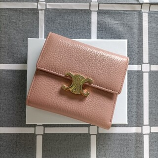 celine - 綺麗☆ピンク コインケース♥セリーヌ 財布 三つ折り