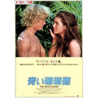 3枚¥301 148「青い珊瑚礁」映画チラシ・フライヤー(印刷物)