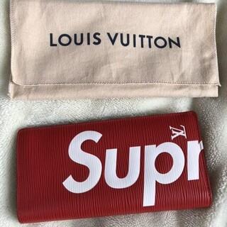 LOUIS VUITTON - LOUIS VUITTON✖️Supreme⭐︎長財布 赤