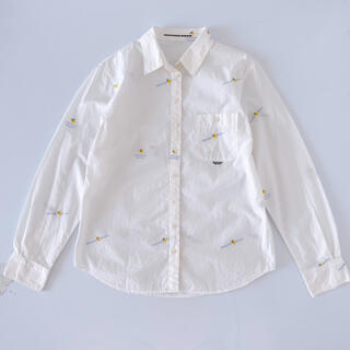PINK HOUSE - マドモアゼルノンノン レモンロゴ刺繍 襟つきシャツ M