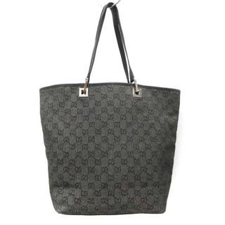 Gucci - グッチ ハンドバッグ トートバッグ GGキャンバス 黒 ブラック 31243