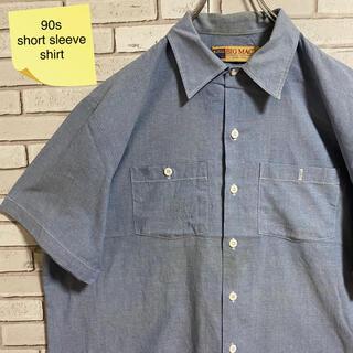 90s 古着 ヴィンテージ USA製 半袖シャツ ビッグシルエット ゆるだぼ(シャツ)