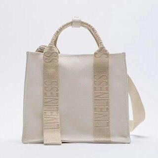 ZARA ロゴストラップ キャンバスミニトートバッグ