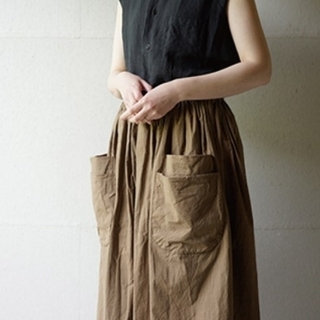homspun バルキーシーチングWポケットギャザースカート