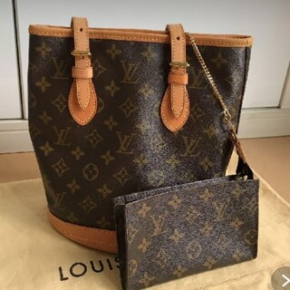 LOUIS VUITTON - ルイヴィトン プチバケット モノグラム トート ポーチ