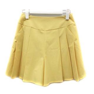 ルネ(René)のルネ キュロット プリーツスカート ショートパンツ 34 XS 黄色(キュロット)