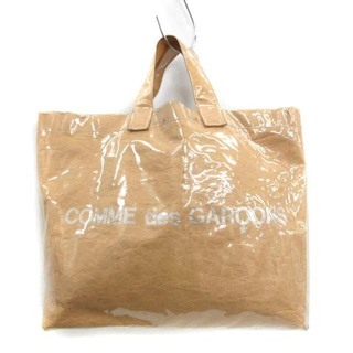 COMME des GARCONS - コムデギャルソン ハンドバッグ トートバッグ ペーパー PVC ロゴ 茶