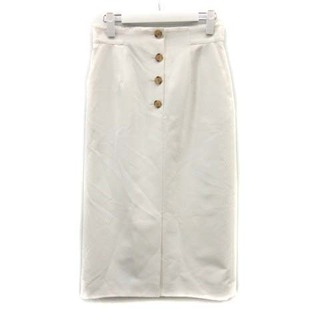 アナイ(ANAYI)のアナイ ANAYI 19SS タイトスカート ロング 38 M 白 ホワイト(ロングスカート)
