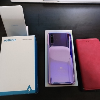 ANDROID - xiaomi mi9 グローバル版 ケース ワイヤレス充電器 付き