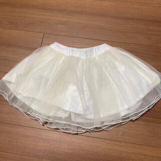 プティマイン(petit main)のプティマイン ☆チュールスカート 80cm(ホワイト)(スカート)