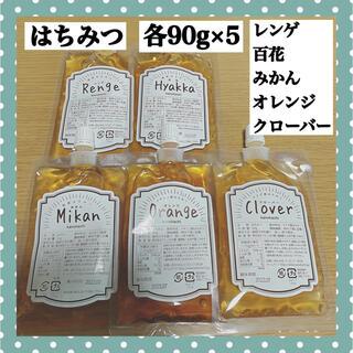 完熟純粋はちみつ90g×5=450gエコパック入り/蜂蜜/はちみつ(その他)