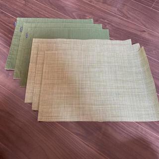 おまけ付き グリーン系 ランチョンマット 3枚×2セット