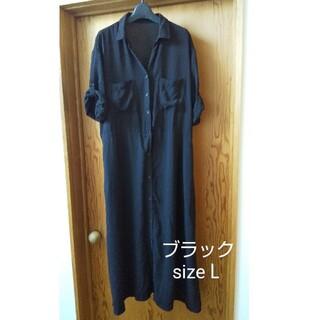 GU - シャツワンピース ロング丈 L GU
