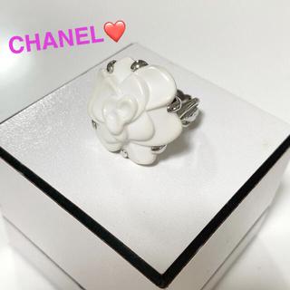 CHANEL - 人気✨定508200✨CHANEL カメリア オニキス×k18✨WG✨リング✨