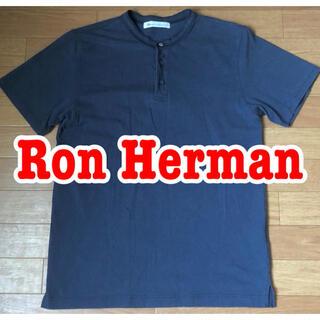 ロンハーマン(Ron Herman)のロンハーマン ヘンリーネック コンチョボタン ネイビー(Tシャツ/カットソー(半袖/袖なし))