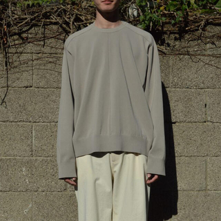 1LDK SELECT - stein 20ss Combined Neck Knit LS グレージュ
