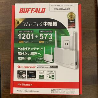 バッファロー(Buffalo)の新品未開封 バッファロー WI-FI6中継機 wex-1800AX4EA (PC周辺機器)